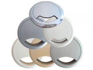 circular desk outlets