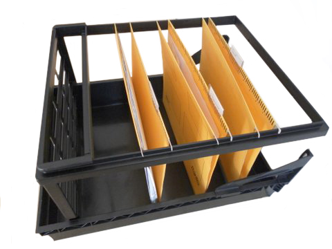 Plastic filing frame for hanging files