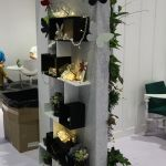 Shop display in acoustic fibre